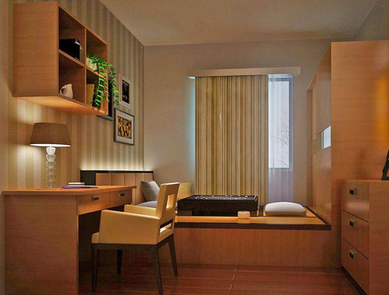 书柜专造榻榻米,卧室飘窗当书桌,求清爽随意,中年夫妻5.