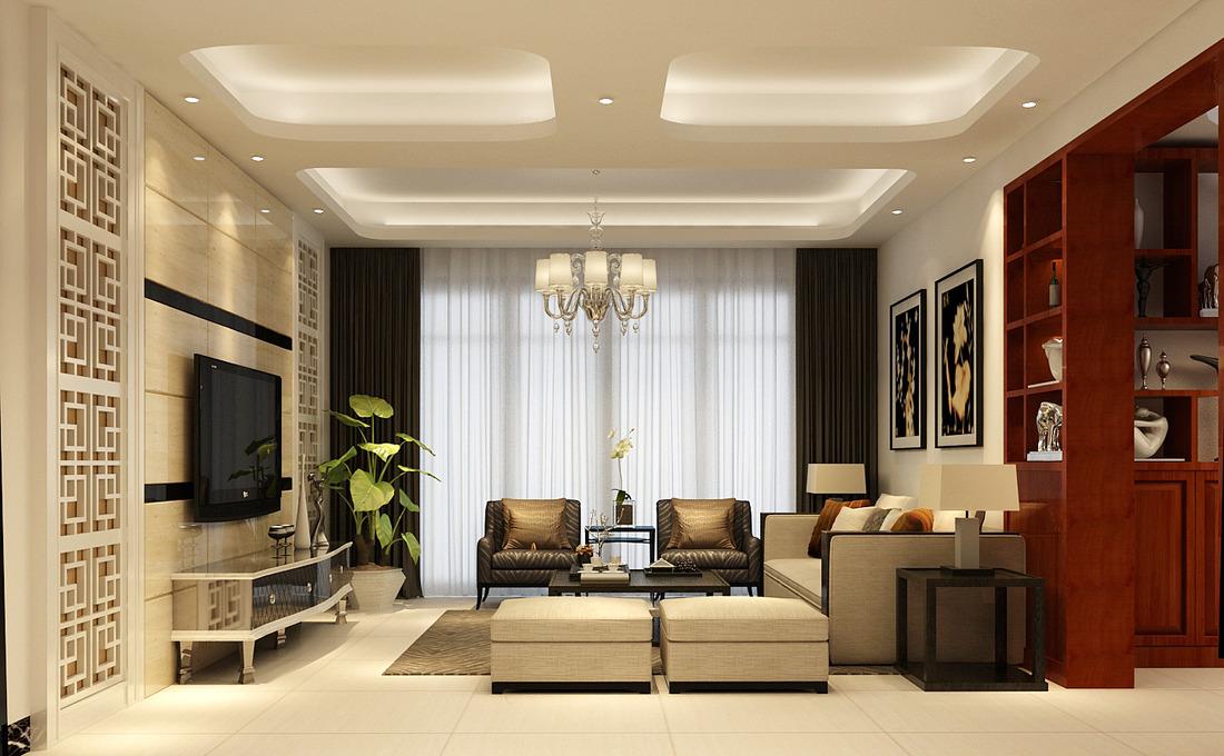 中式客厅装修案例_酷家乐装修效果图3fo4k74yglci图片