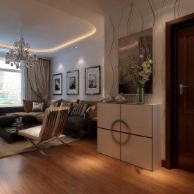 现代客厅吊顶窗帘案例展示