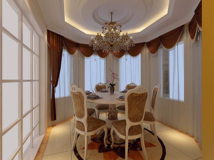 纯正欧式别墅,繁复石膏雕花镶嵌出欧式宫廷的贵族气质&拱形花窗图片