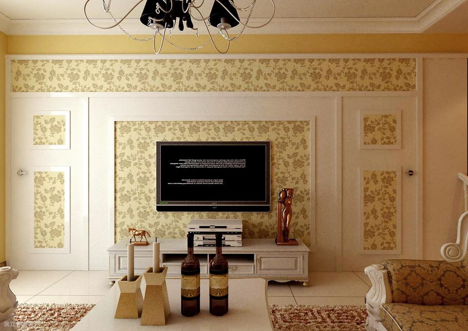 简欧风格三居和谐美家,电视墙后藏着甜蜜小屋图片