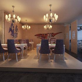 法式餐厅装修效果展示
