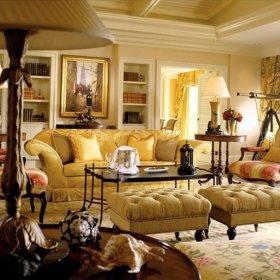 欧式客厅沙发单人沙发设计案例
