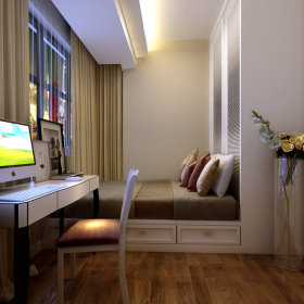 现代卧室窗帘设计方案