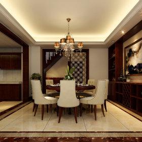 欧式餐厅吊顶酒柜设计案例