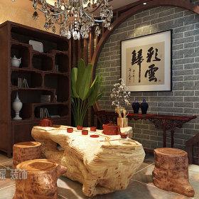 中式中式风格休闲区设计方案