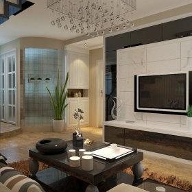 现代客厅电视背景墙装修效果展示
