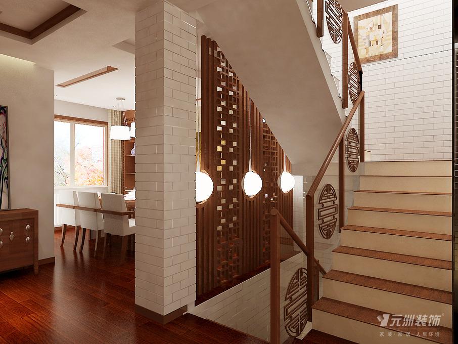 中式过道复式楼楼梯图片图片