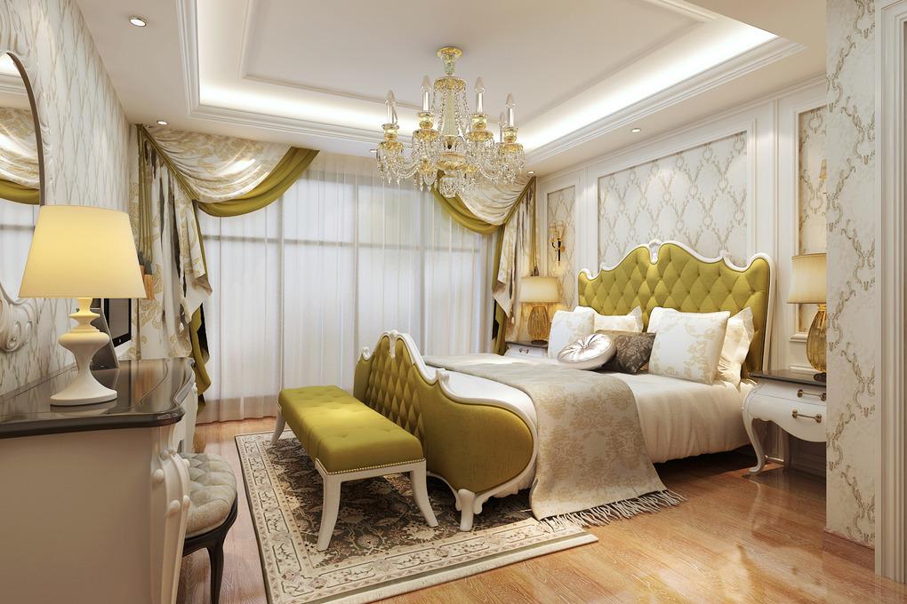 欧式风格复式三居室,软包&石材的交响,软硬之感对比出的白色华丽图片