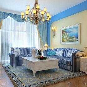 地中海客厅图片