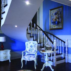 美式别墅楼梯案例展示