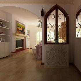 田园田园风格玄关玄关柜设计案例展示