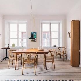 北欧自然餐桌餐桌椅木质餐桌椅设计方案