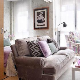 客厅卧室沙发推拉门设计案例