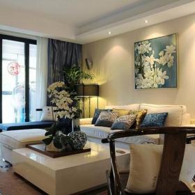 古典客厅沙发单人沙发装修图
