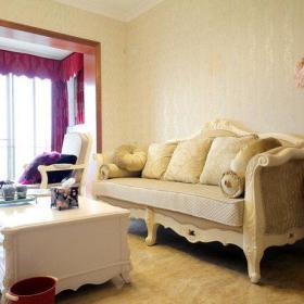欧式典雅客厅窗帘沙发设计案例展示