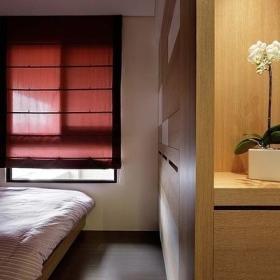 中式古典卧室窗帘装修效果展示
