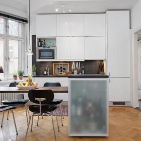 空间小也有大吧台 43平米瑞典公寓