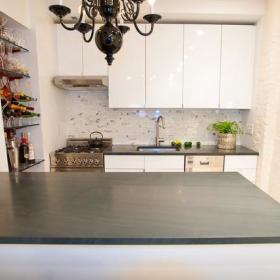 厨房吧台餐桌酒架设计图