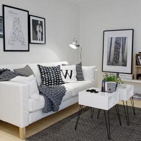 时尚客厅沙发茶几小茶几装修图