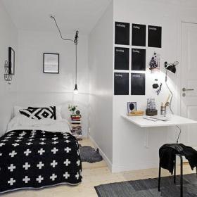 简约时尚前卫厨房单人床设计方案