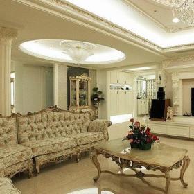 新古典客厅摆饰装修效果展示