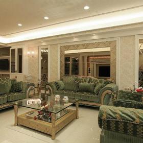 欧式新古典混搭古典奢华沙发壁纸装修图
