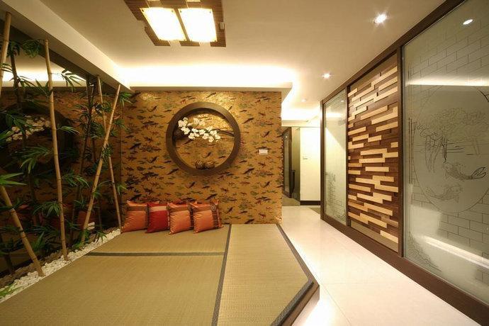 264平中式禅风别墅地台设计装修效果图图片