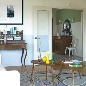 复古现代客厅仿古家具装修图