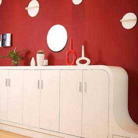 红白简约100平时尚婚房设计