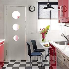复古时尚复古风格厨房厨房门设计方案