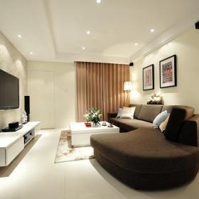 现代时尚客厅窗帘设计案例