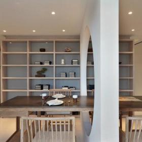 中式古典隔断餐桌设计方案