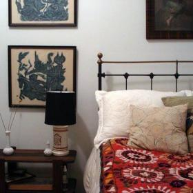 精致浪漫卧室卧室家具角几挂画装修图
