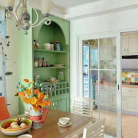 餐厅厨房隔断推拉门隔断门设计方案