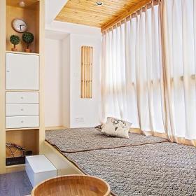 日式客厅榻榻米储物柜装修效果展示