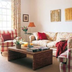 田园客厅沙发单人沙发案例展示