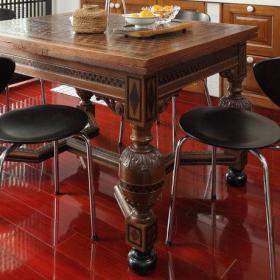 现代厨房餐桌装修案例