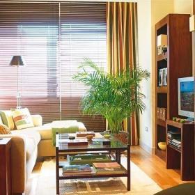 客厅窗帘木地板图片