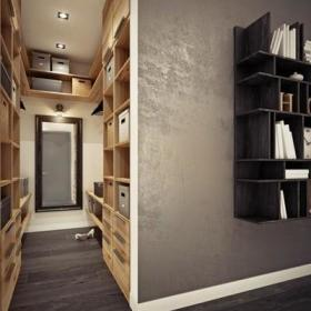玄关过道玄关镜玄关柜装修案例
