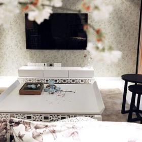 田园清新简约客厅陶瓷茶具效果图
