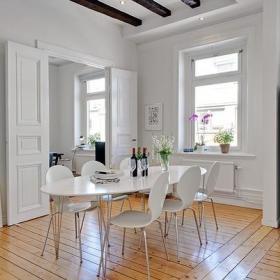 餐桌木地板设计案例