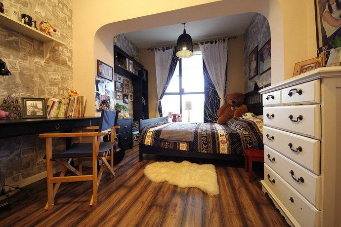 200平美式乡村复式家居效果图图片