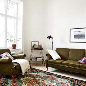 欧式复古客厅沙发单人沙发设计图