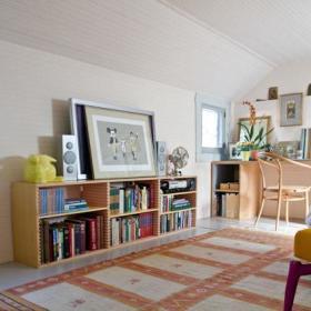北欧清新简约北欧风格书房装修效果展示