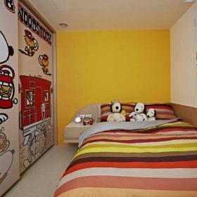 儿童房背景墙装修效果展示