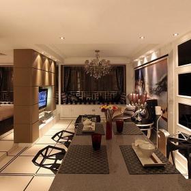 客厅餐厅一居室一居装修效果展示
