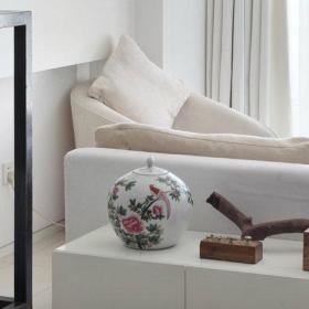 自然客厅沙发边柜效果图