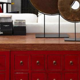 中式客厅餐厅沙发茶几木门设计案例展示