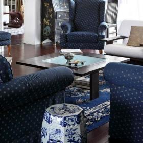 客厅沙发脚凳单人沙发椅设计案例